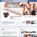 The Portage Skatepark facebook page is updated about every other day and contains all of the information a reader may want to know about their project.