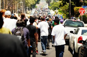 Skateboarders are demonstrating their numbers more than ever before. Image courtesy: Go Skateboarding Day and Emerica