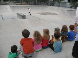 Skateparks near schools will introduce children to positive recreational play. Image courtesy: Heather Flett