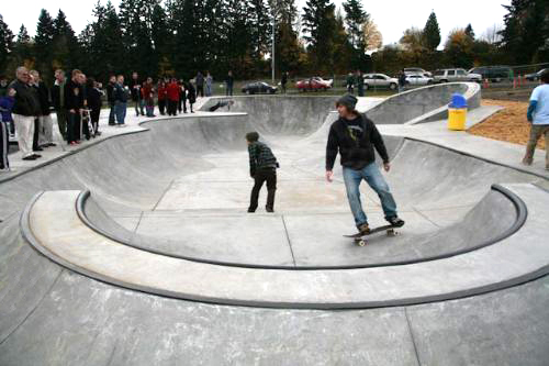 Neighborhood Skateparks in Kelso, WA. Image courtesy of Rotary Club of Kelso.