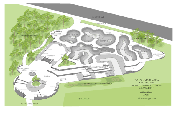 Concept designs for fundraising public skatepark development guide rooms ann arbor malvernweather
