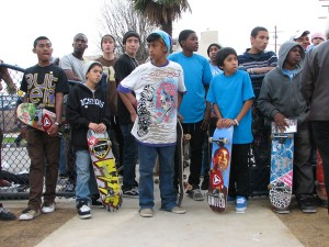 Typical skaters in Long Beach, CA. Image courtesy: LAT34.com