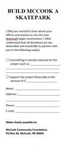 Donation Slip